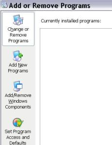 add and remove programs